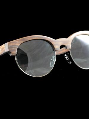 Gafas de sol de madera mixed black fondo negro grande