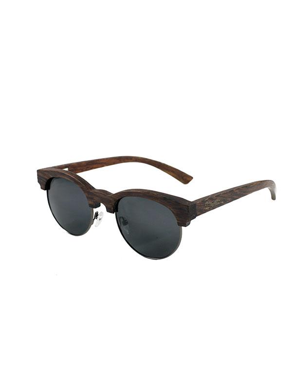 Gafas de sol de madera mixed black fondo blanco