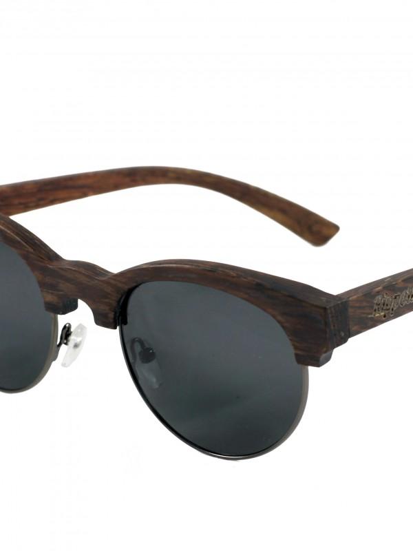Gafas de sol de madera mixed black fondo blanco grande