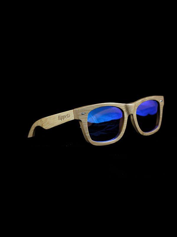 Gafas de sol de madera sky medium tamaño completo fondo negro
