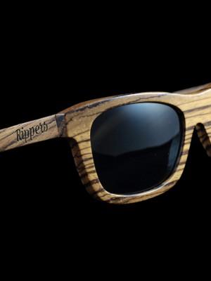 Gafas de sol de madera modelo Zebra All Black