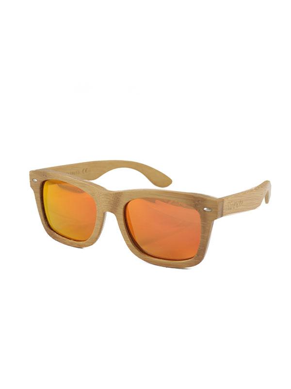 Gafas de sol de madera sunny medium tamaño completo fondo blanco