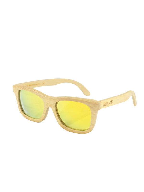 Gafas de sol de madera sunny soft tamaño completo fondo blanco